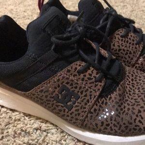 DC Leopard Print tennis shoes, barely worn, size 9